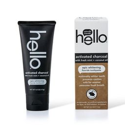 hello Activated Charcoal Whitening Fluoride Toothpaste , sls Free and Vegan , 4oz | Target