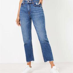 The Fresh Cut High Waist Straight Crop Jean in Authentic Dark Indigo Wash | LOFT