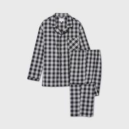 Men's Big & Tall Buffalo Plaid Woven Flannel Poplin Pajama Set - Goodfellow & Co™ Black | Target