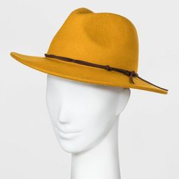 Women's Felt Fedora Hat - Universal Thread™ Yellow One Size   Target