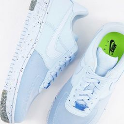 Nike Air Force 1 Crater sneakers in hydrogen blue | ASOS (Global)