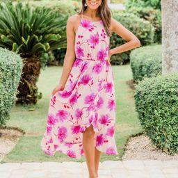 Sunrise Love Floral Print Maxi Pink   The Pink Lily Boutique