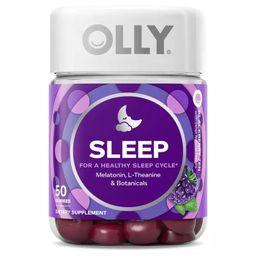 Olly 3mg Melatonin Sleep Gummies - Blackberry Zen - 50ct   Target