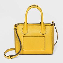 Convertible Mini Boxy Magnetic Closure Satchel Handbag - A New Day™   Target