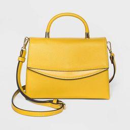 Mini Top Handle Magnetic Flap Closure Satchel Handbag - A New Day™   Target