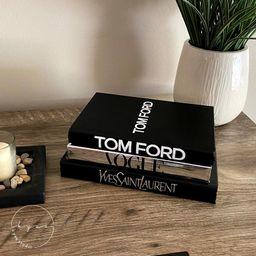 Luxury Stacked Books Home Decor | Fashion Designer Decorative Books | Fashion Book Stacks | Luxur... | Etsy (US)