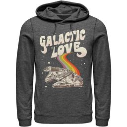 Men's Star Wars Pride Millennium Falcon Galactic Love Hoodie, Size: Large, Dark Grey | Kohl's