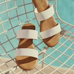 Oona White Slide Sandals | Lulus (US)