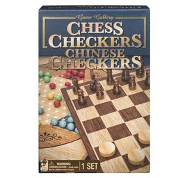 Game Gallery Chess, Checkers and Chinese Checkers Board Game Set   Target