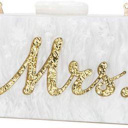 Women Evening Handbag Clutch Acrylic Wedding Party Purse Crossbody Wallet Bag iPhone Phone - MRS ... | Amazon (US)