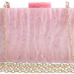 Acrylic Clutch Bags Purse Perspex Bag Handbags for Women | Amazon (US)