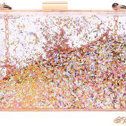 Magical Transparent Sequins Clutch Purse Evening Handbag For Party Prom Bride | Amazon (US)