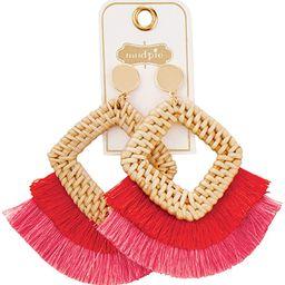 Women Rattan Tassel Earrings | Amazon (US)