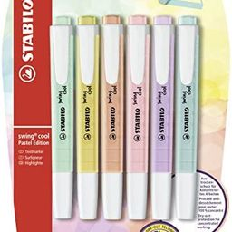 STABILO B-52740-10 Blister Swing Cool Pastel Highlighter (Pack of 6)   Amazon (US)