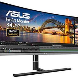"ASUS ProArt PA34VC 34"" Curved Monitor Uwqhd 100Hz HDR-10 IPS Eye Care TB3 DP 1.2 HDMI 2.0B, Black | Amazon (US)"
