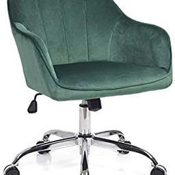 J&L Furniture Modern Design Velvet Office Desk Chair Mid-Back Home Office Chair Swivel Adjustable... | Amazon (US)
