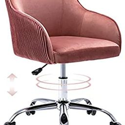 Cute Pink Desk Chair for Teens Girls, Upholstered Home Office Computer Desk Chairs with Wheels an... | Amazon (US)
