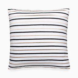 Kate Spade Embroidered Stripe Decorative Pillow, White/Black | Kate Spade (US)