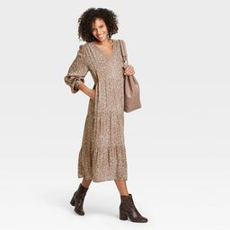Women's Long Sleeve Tiered Dress - A New Day™   Target