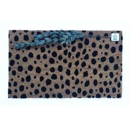 leopard doormat   Cheetah Doormat   outdoor rug   coir mat   front door mat   decorative mat   sp...   Etsy (US)
