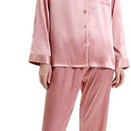SIORO Women Pajamas Set Satin Long Sleeve Silk Pajamas for Womens, Button Down Nightwear Soft Pj ... | Amazon (US)