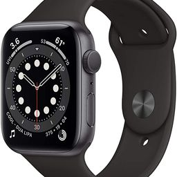 New AppleWatch Series 6 (GPS, 44mm) - Space Gray Aluminum Case with Black Sport Band | Amazon (US)