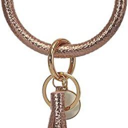 Reoxvo Keyring Bracelets Wristlet Keychain Bracelet Circle Key Ring Bangle Key Ring Chain for Wom... | Amazon (US)