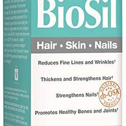 BioSil by Natural Factors, Hair, Skin, Nails, Supports Healthy Growth and Strength, Vegan Collage...   Amazon (US)