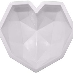 MOTZU Diamond Heart Love Shape Silicone Cake Mold, Silicone Oven Safe Chocolate Mousse Dessert Ba...   Amazon (CA)