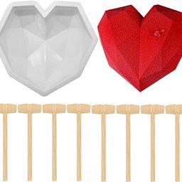 RAYNAG Diamond Heart Silicone Mousse Cake Mold Breakable Heart Chocolate Fondant Dessert Mould Ba...   Amazon (CA)