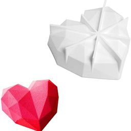 SUNTRADE 1 Cup Diamond Chocolate Silicone Dessert Mould,Heart Shape for Cake Decorating, Baking, ...   Amazon (CA)