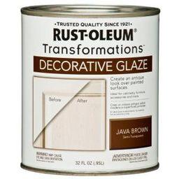 Rust-Oleum Transformations 1 qt. Java Brown Cabinet Decorative Glaze-266227 - The Home Depot | The Home Depot