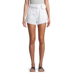 No Boundaries Juniors' Super High Rise Paperbag Shorts with Self Belt Purse | Walmart (US)