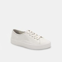 VALOR SNEAKERS IN WHITE EMBOSSED LEATHER   DolceVita.com