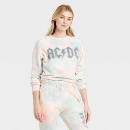 Women's AC/DC Washed Graphic Sweatshirt | Target