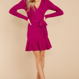 Making Moves Magenta Sweater Dress | Red Dress