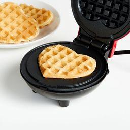 Dash Heart Mini Waffle Maker + Reviews   Crate and Barrel   Crate & Barrel