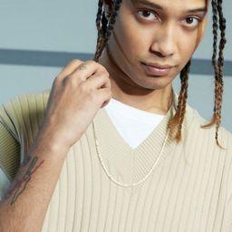 Knitted V Neck Oversized Vest | boohooMAN (DE, IE & UK)