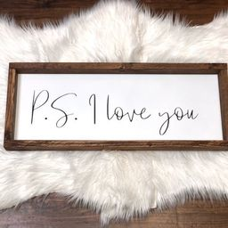 P.s. I love you | Headboard sign | Anniversary gift | Couple signs | | Etsy (US)