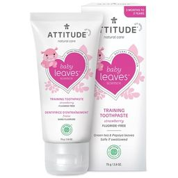 ATTITUDE Baby Leaves Training Toothpaste Strawberry Flavour Fluoride Free | Well.ca