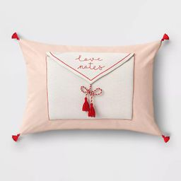 NEW Lumbar Love Notes Valentines Day Throw Pillow Blush Opalhouse for Target | eBay US