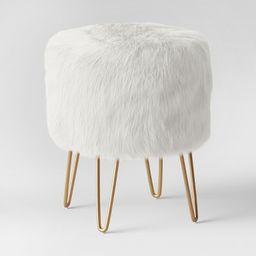Radovre Hairpin Ottoman Faux Fur White - Project 62™ | Target