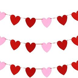 BESPORTBLE 3pcs Heart Garlands Banner Valentines Day Felt Love Hanging Banner for DIY Party Favor... | Amazon (CA)