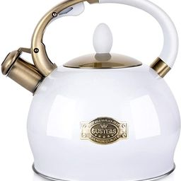 SUSTEAS Stove Top Whistling Tea Kettle-Surgical Stainless Steel Teakettle Teapot with Cool Toch E... | Amazon (US)