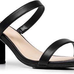 J. Adams Stormi Block Heel - Double Band Square Toe Heeled Sandal   Amazon (US)