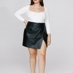 Take the Lead Faux Leather Plus Skirt   NastyGal (US & CA)