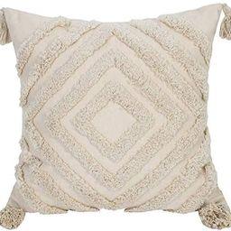 Faycole Morocco Tufted Throw Pillow Case with Tassels Boho Farmhouse Cushion Covers for Sofa Couc... | Amazon (US)