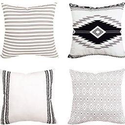 Yastouay Modern Pillow Covers Boho Pillow Covers Decorative Throw Pillow Case Set Home Decor Cush... | Amazon (US)