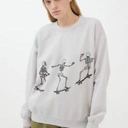 Project Social T Skateboard Skeletons Sweatshirt | Urban Outfitters (US and RoW)