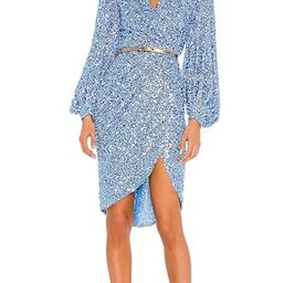 Bronx and Banco Elizabeth Midi Dress in Blue. - size S (also in XS) | Revolve Clothing (Global)